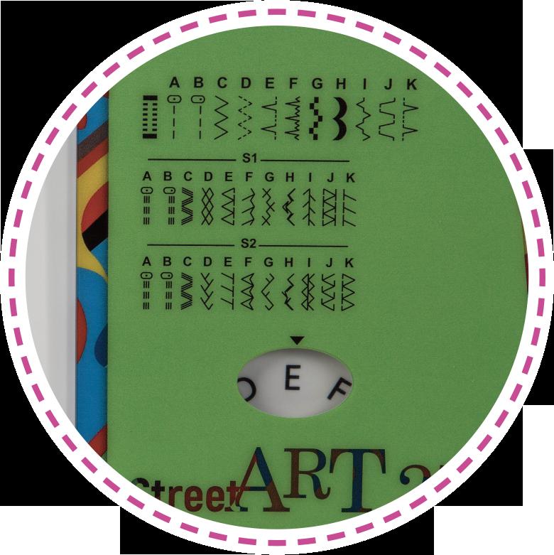 Jednokroková dírka, 29 vzorů šití|Šicí stroj Leader StreetArt 270