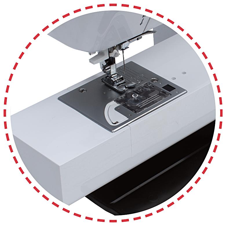 Dlouhé rameno, automatický odstřih nití|Šicí stroj Garudan CREATIVO GHE-1500