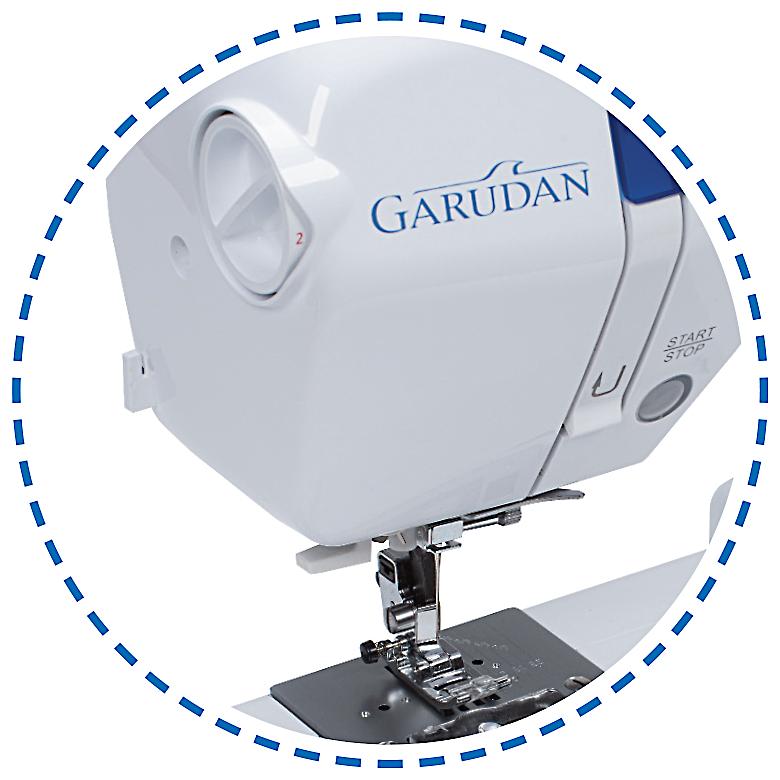 Manuální regulace přítlaku patky|Šicí stroj Garudan INSPIRO GHE-1200