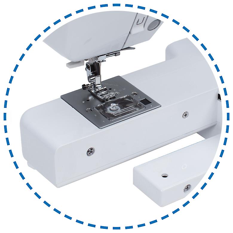 Dlouhé úzké volné rameno|Šicí stroj Garudan INSPIRO GHE-1200