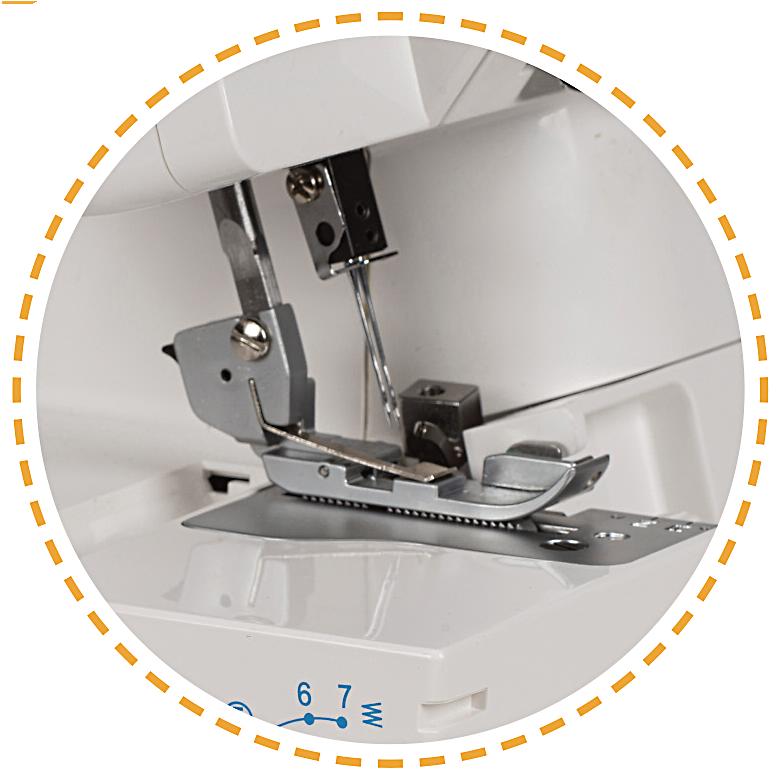 Silný celokovový overlock s volným ramenem|Overlock VS 340D