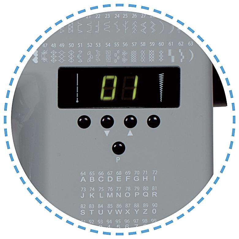99 programů - overlockové stehy, dekorativný stehy, abeceda|Šicí stroj Garudan SMART GHE-1099