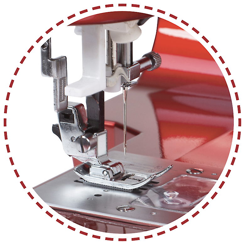 Zabudovaný navliekač nite do ihly|Šijací stroj Garudan VISIO GHE-1207