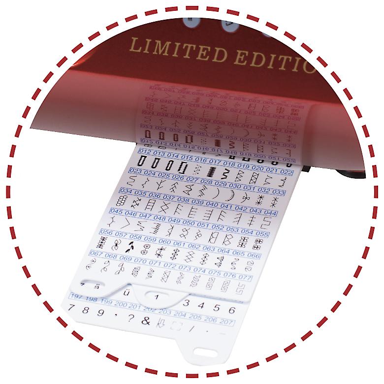 207 vzorov, abeceda, overlockové stehy, dekoratívne stehy|Šijací stroj Garudan VISIO GHE-120