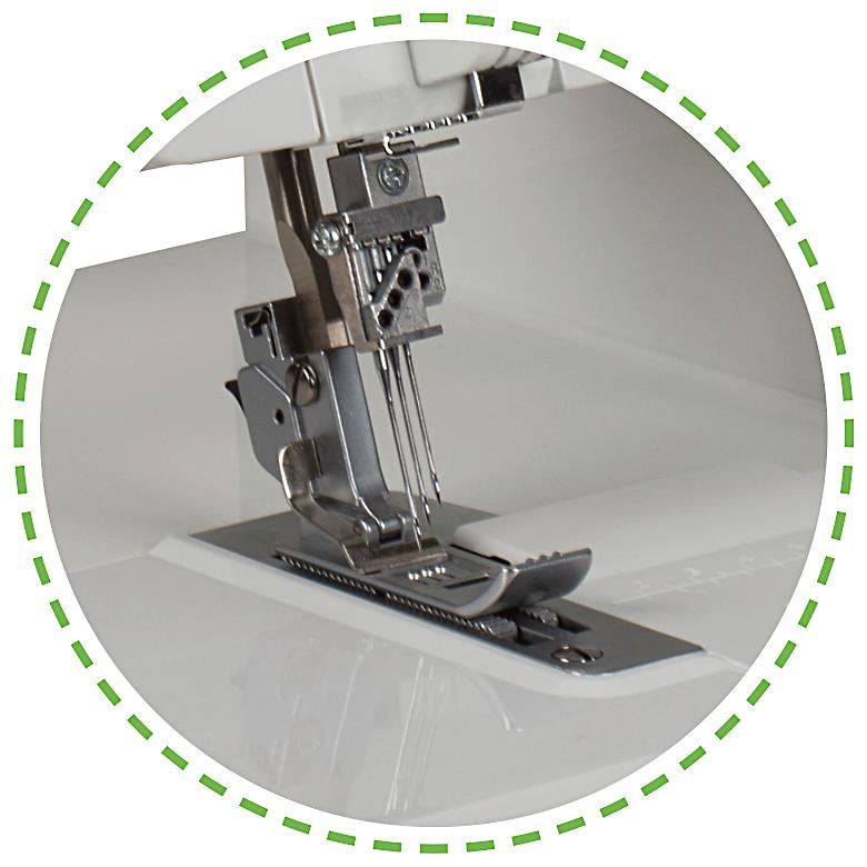 DIferenciální podávání a regulace přítlaku pro různé materiály|Coverlock Leader VS 400D